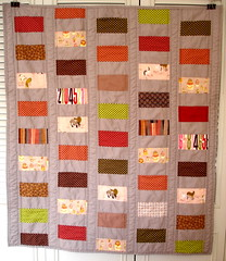 baby quilt - modified coin quilt | by blempgorf