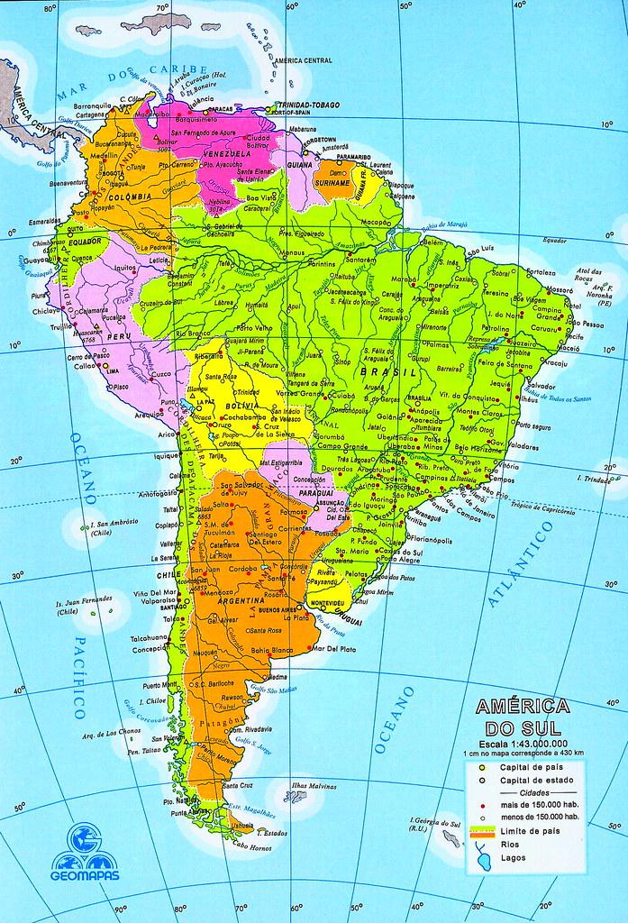 Mapa de América del Sur (Sudamérica) - mapa da América do … | Flickr