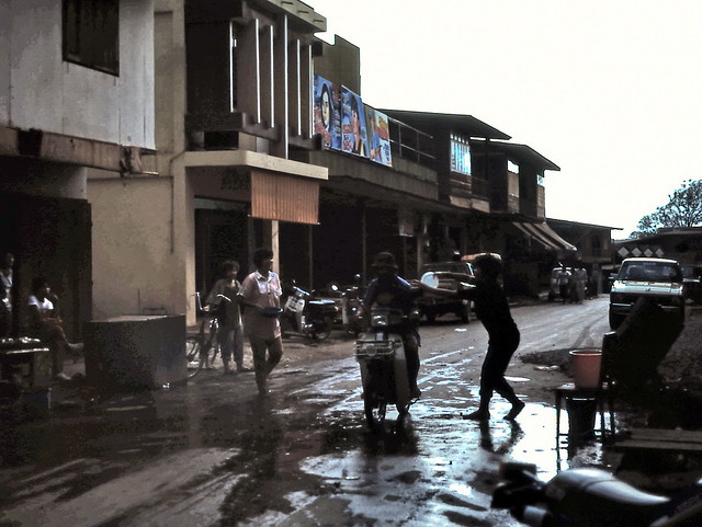 gm_01622 Chiang Khan, Street Songkran Celebration 1985