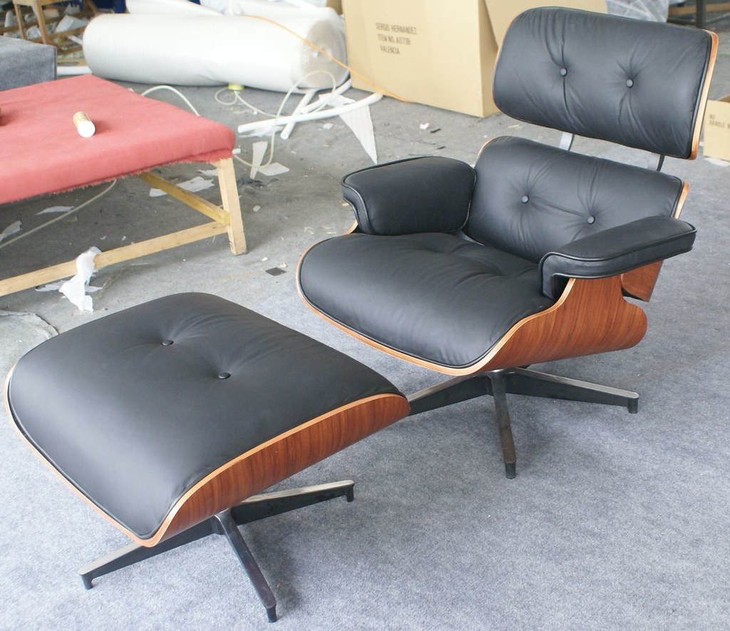 Astounding Icon Eames Style Lounge Chair And Ottoman Rosewood Black Beatyapartments Chair Design Images Beatyapartmentscom