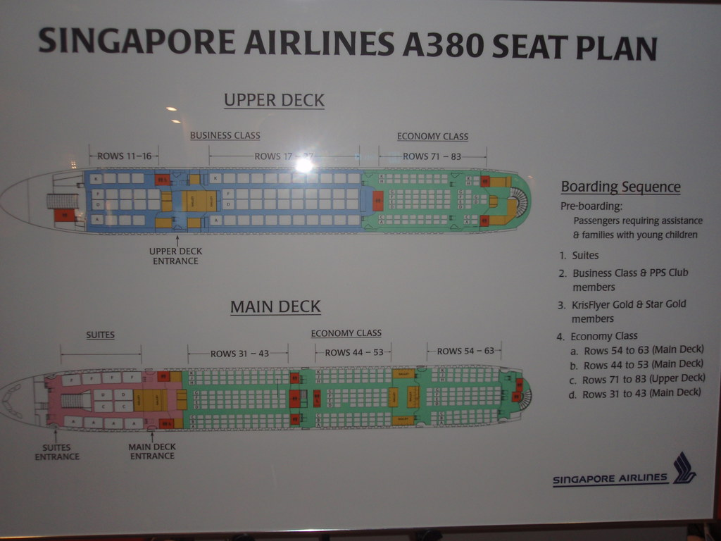 Singapore Airlines A380 Seat Plan Upper Deck ...