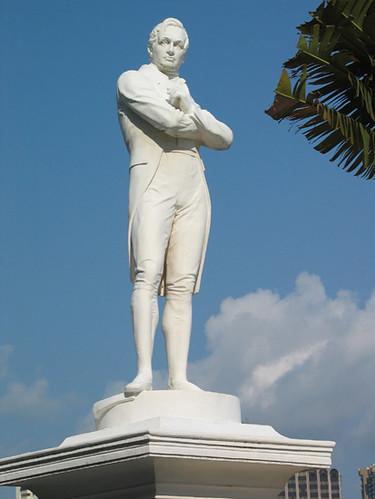 Stamford Raffles Statue At Singapore River Single Flickr