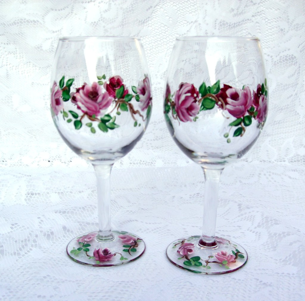 Image result for decorated wine glass