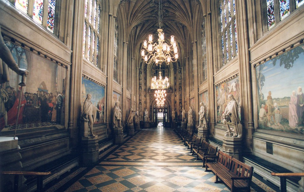 Houses Of Parliament Interior.  St Stephen s Hall by UK Parliament Visitors attending a debate or committee Flickr