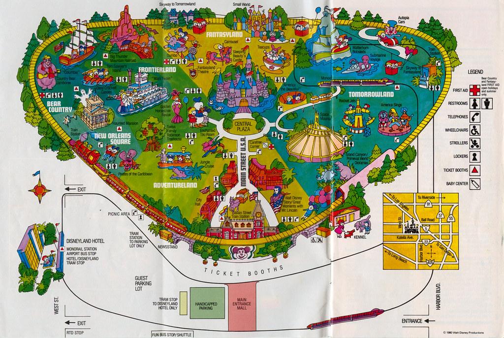Disneyland Park Map Disneyland Park Map 1981 | A scan of the 1981 Disneyland Par… | Flickr Disneyland Park Map