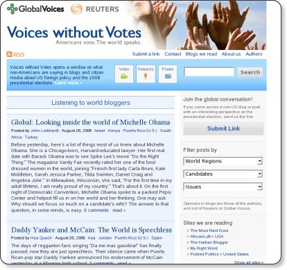 Voices without Votes | Americans vote. The world speaks. | by shinyai