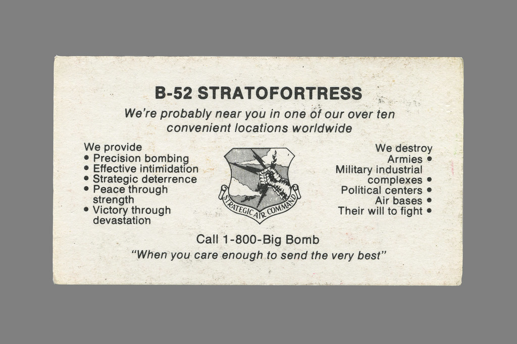 B-52 Business Card circa 1986 | I found this business card t… | Flickr