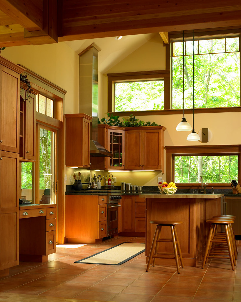 Mission Style Kitchen Lighting Kitchen Of Lindal Cedar Home In New Jersey Lindal Cedar Ho Flickr
