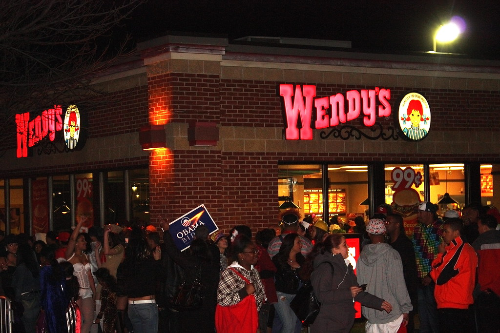 Wendys Halloween Night Salem Ma | guy dressed as Obama there… | Flickr