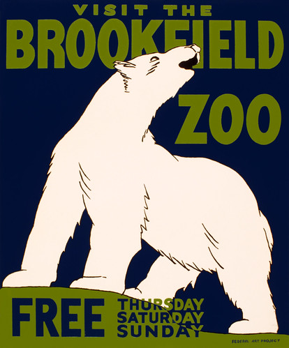Visit the Brookfield Zoo, WPA poster, 1936 | by trialsanderrors