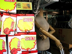 Nonchalant tailor's dummy in Dongdaemun market, Seoul | by Todd Mecklem