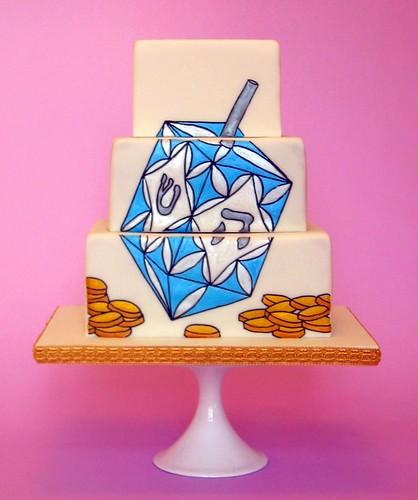 Dreidel Cake