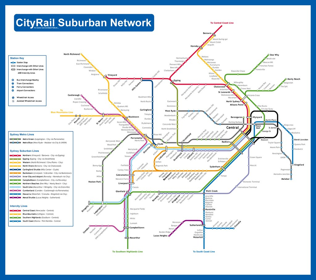 City Rail Map CityRail Map (in some non existant future) | some map found … | Flickr City Rail Map