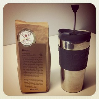 Comfort @ work. Roleto - Columbian coffee, #6 in Cup of Excellence. Perfect! | by bjerkestrand