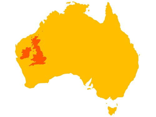 For us Poms Australia is quite big The UK Ireland and Au Flickr