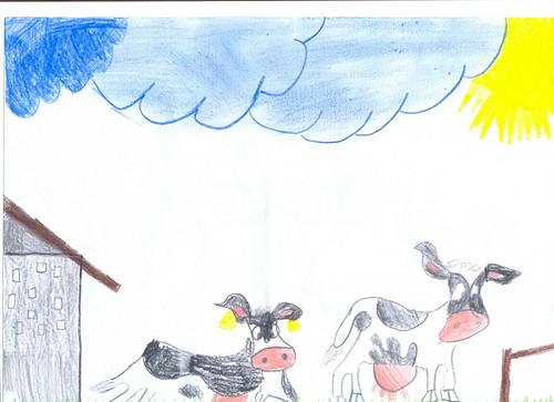 Disegno fattoria tanti disegni fatti dai bambini della for Disegni di animali per bambini