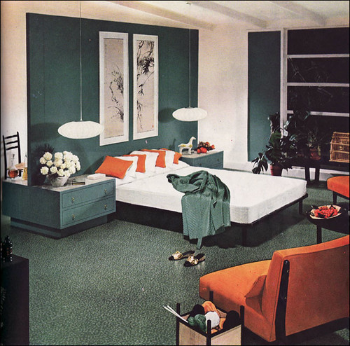 1954 Armstrong Mid Century Modern Bedroom | by American Vintage Home