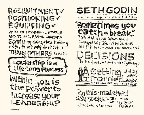 Chick-Fil-A Leadercast Sketchnotes 05-06 - John Maxwell / Seth Godin | by Mike Rohde