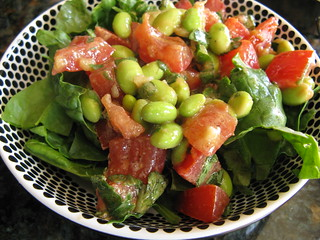 Soybean & Spinach Salad | by katbaro