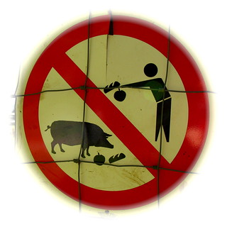 No piggy feeding. This means you, Erin. | by gas_station_sushi