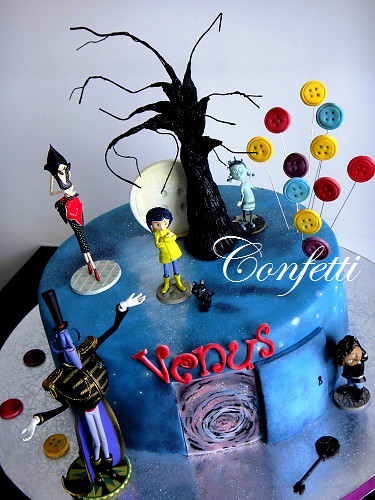 Cake Decorating Centre Jeddah : Coraline Cake Be careful what you wish for.... Marina ...