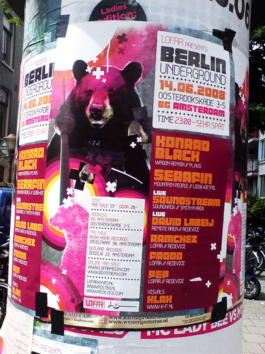 poster in the city of Amsterdam: BERLIN UNDERGROUND | by Posters in Amsterdam by Jarr Geerligs
