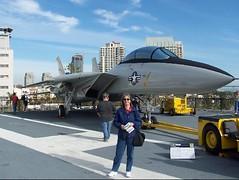 Karen on the USS Midway | by J. Stephen Conn