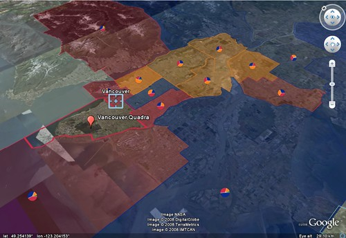 Vancouver / Canadian Federal Elections 2008 on Google Earth | by Cedric Sam