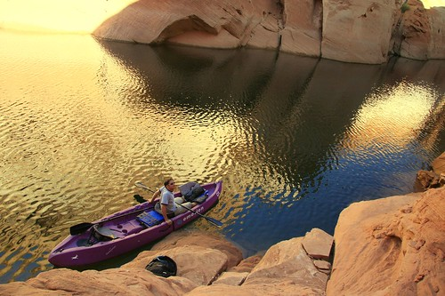 Kayaking on Lake Powell, AZ | by TaQpets