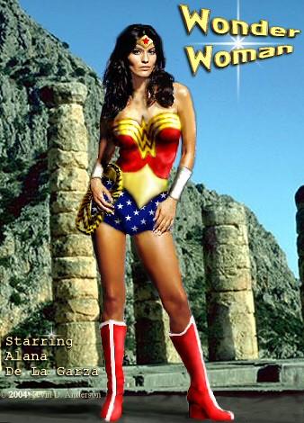 Alana De La Garza Alana De La Garza As Wonder Woman