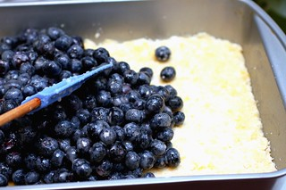 spreading the blueberry filling | by smitten kitchen