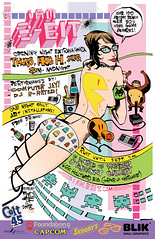 i am 8-bit 2008 flyer (by Jim Mahfood) | by Lucky Naka