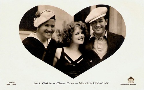 Jack Oakie, Clara Bow and Maurice Chevalier in Paramount on Parade (1930)