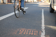 door zone warning stencil-10 | by BikePortland.org