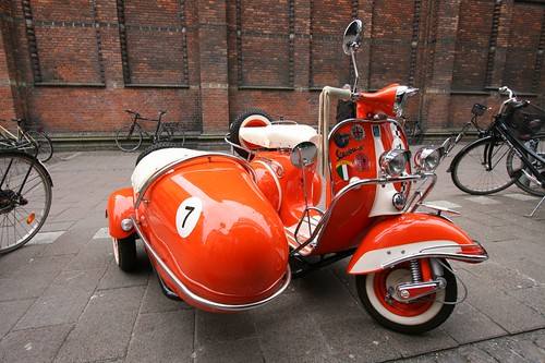 Moped with Sidecar | by somebox