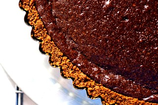 chocolate tart with gingersnap crust | by smitten kitchen