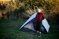 Meghan At Our Gaviota State Park Camp Site | by Gary Rides Bikes