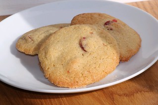 Cherry & Almond Cookies | by Rachel Cotterill