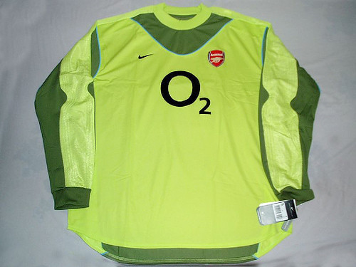 7a9fefc50 ... Arsenal FC 03 04 Away GK Jersey