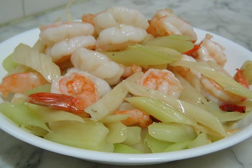 Stir Fry Shrimp & Celery | by NotFarFromWater