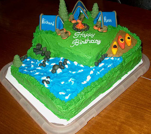 Camping Cake Decorating Ideas