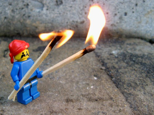 Lego Two Torches | by qwen wan