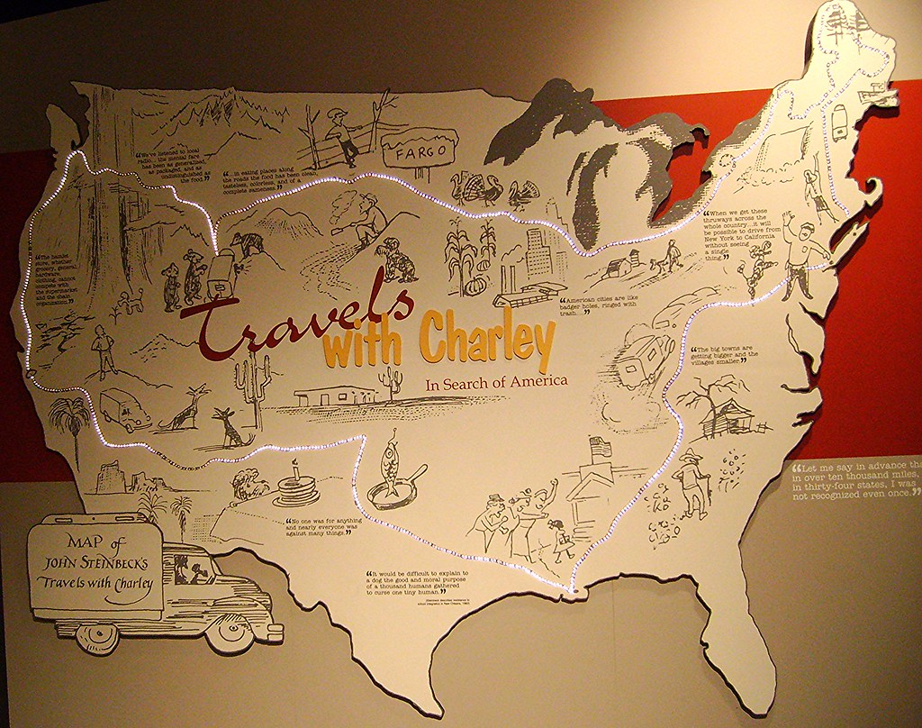 Steinbeck Travels with Charley map At the National Ste – Travels With Charley Map