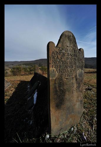 Zachariah Anderson Comb Grave Zachariah Anderson Was