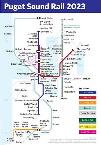Seattle Light Rail Plan Map Chicago Map