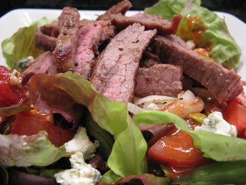 Steak Salad with Strawberry Vinaigrette | by katbaro