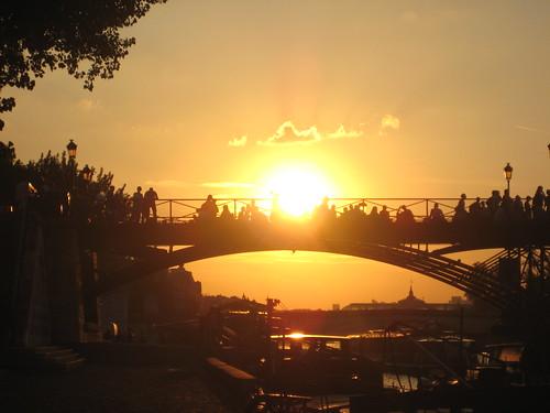 Coucher de soleil sur le pont des arts paris couch de so flickr - Coucher de soleil sur paris ...