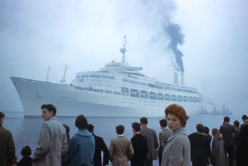 SS Canberra leaving Belfast 1961 d