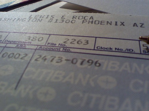 A pay stub from the 13th floor from the 1980s when i for 13th floor address