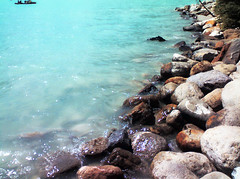 A Rocky Lake Louise Shoreline And Rafters | by LostMyHeadache: Absolutely Free *